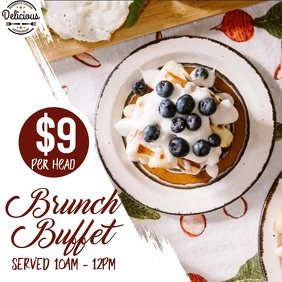Brunch Instagram Restaurant Post Template