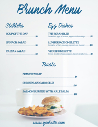 Brunch menu flyer card template