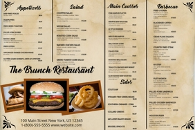 design restaurant menus with free templates postermywall