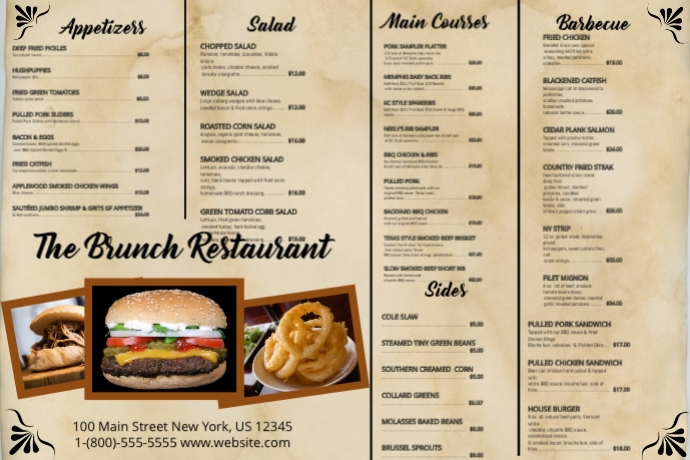 brunch menu template postermywall