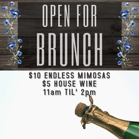brunch mimosa video flyer