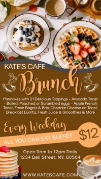 Brunch Restaurant Digital Template