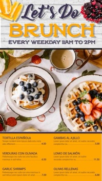 Brunch Special Video Template Digitale Vertoning (9:16)