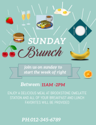 brunch template flyer
