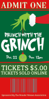 Brunch with the Grinch Ticket Banner Roll Up 3' × 6' template