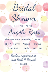 Wedding Poster Templates PosterMyWall - Bridal shower flyer template