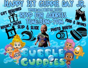 Bubble Guppie Birthday Flyer