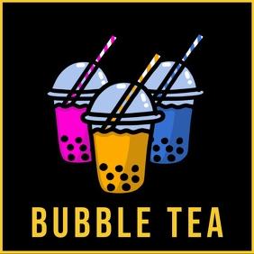 Bubble tea instagram Instagram-bericht template