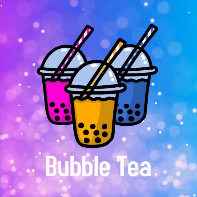 Bubble Tea teabubble Instagram 帖子 template