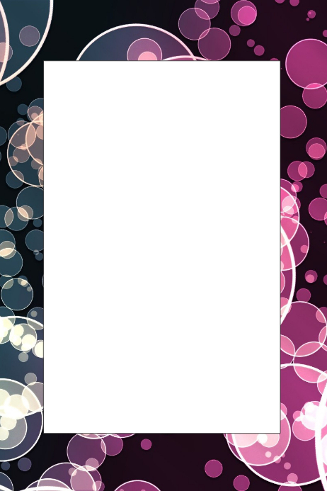 bubbles party prop frame template postermywall