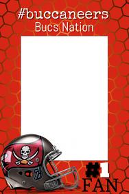 Buccaneers Football Photo Prop Frame