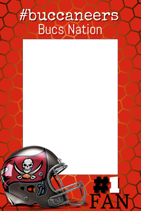 Buccaneers Football Photo Prop Frame Template Postermywall