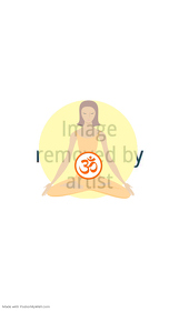 lotus yoga meditation poster