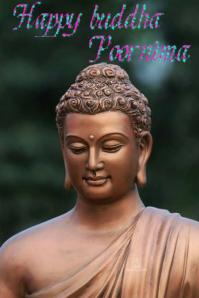 buddha poornima Gráfico de Pinterest template