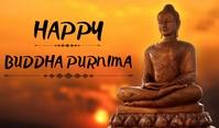 Buddha Purnima Cartellino template