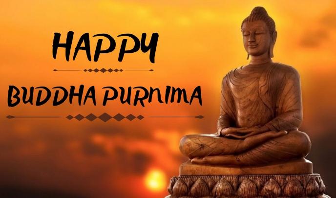 Buddha Purnima Etiqueta template