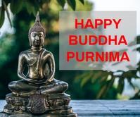 Buddha Purnima Rectángulo Grande template