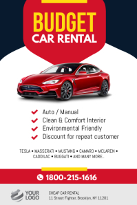Budget Car Rental Flyer Poster Template