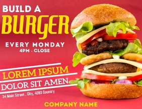 Build a burger night flyer advertisement