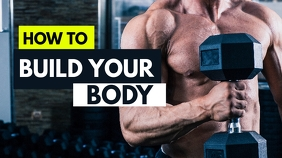 build your body fitness youtube thumbnail des template