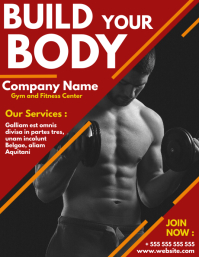 Build your body gym flyer template design