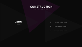 builders business card Визитная карточка template