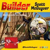 building company advert Instagram-opslag template