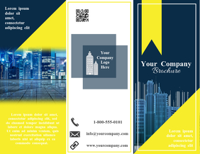 Building Trifold Brochure Flyer (US Letter) template