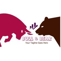Bull & Bear Logo template