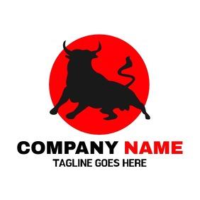 Bull and circle logo or company icon