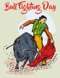 Bull fighting day, spanish culture Volante (Carta US) template