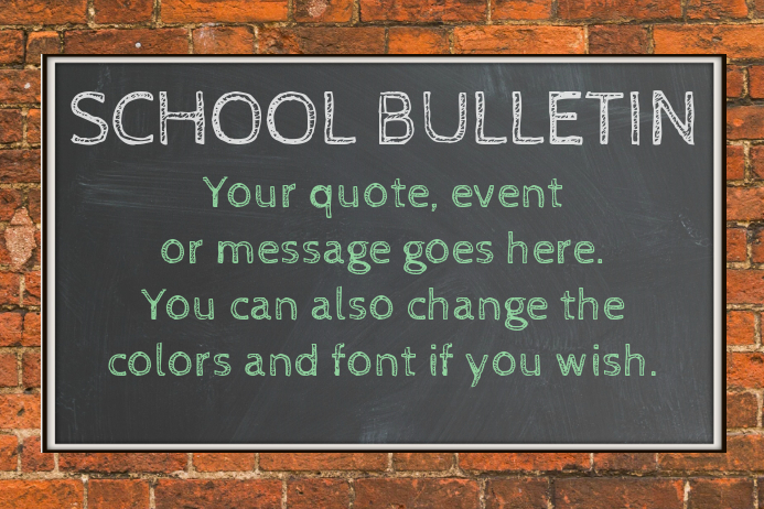 bulletin board poster template postermywall