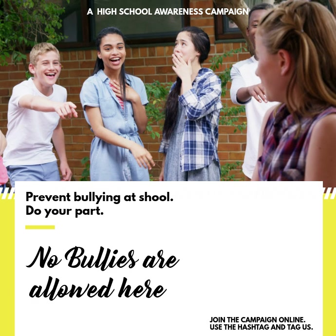Bullying Awareness Campaign Instagram Video Template