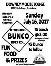 Bunco Night Fundraiser