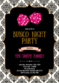 Bunco night party invitation