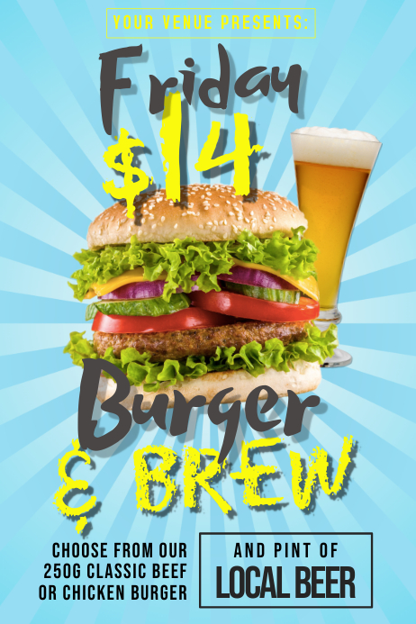 Burger & Brew Poster