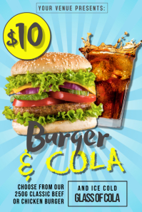 Burger & Cola Deal Poster