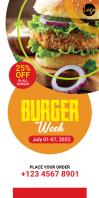 Burger Ad Roll Up Banner Роллерный баннер 3' × 6' template