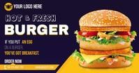 Burger Ads delt Facebook-billede template