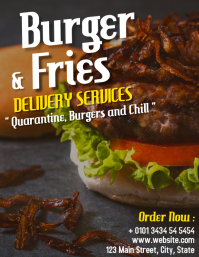 burger and fries delivery services restaurant