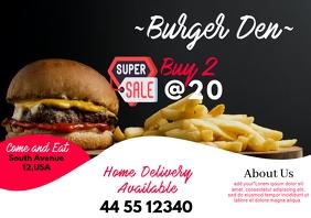 Burger Bar Banner Ad A5 template