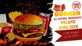 Burger Bar banner for Social Ad