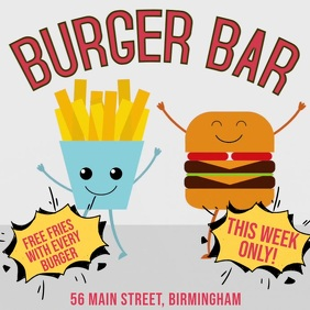 Burger Bar Digital Ad Template