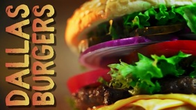 Burger Bar Digital Template Facebook Cover Video (16:9)