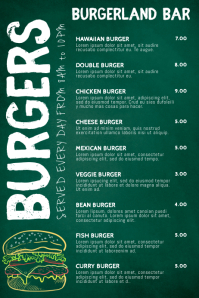 Burger Bar Menu Template