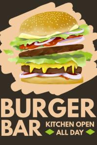 Burger Bar Poster Template