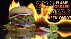 Burger Bar Video Ad Template Цифровой дисплей (16 : 9)