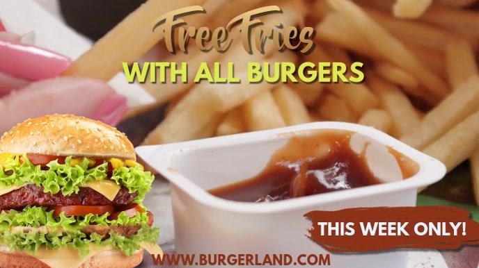 Burger Bar Video Ad Template Ekran reklamowy (16:9)