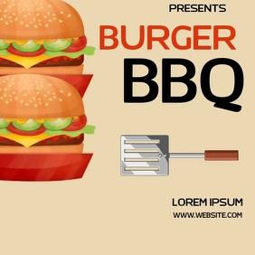 BURGER BBQ BARBECUE AD SOCIAL MEDIA