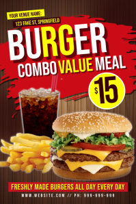 Burger Combo Meal Poster
